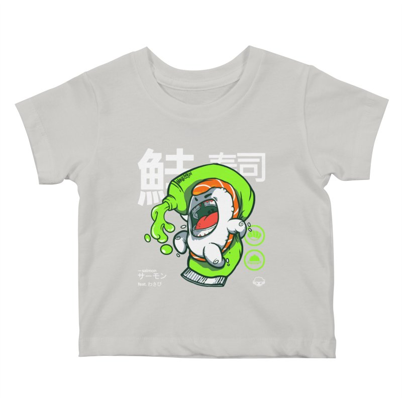 Salmon feat. Wasabi Kids Baby T-Shirt by mankeeboi's Artist Shop