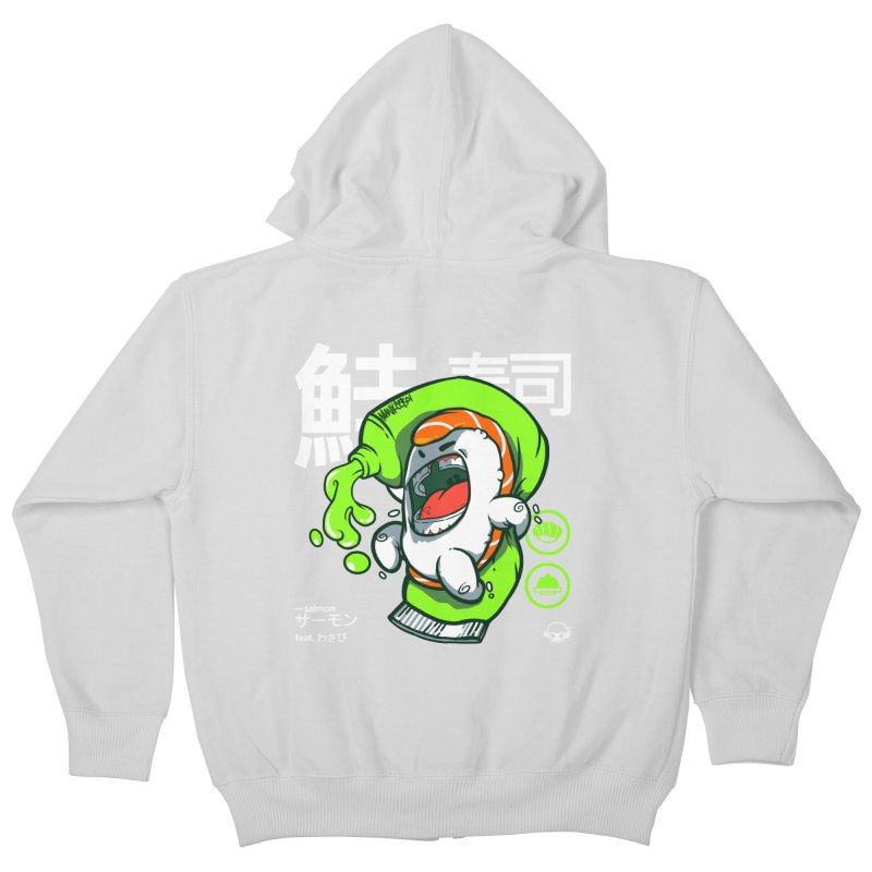 Salmon feat. Wasabi Kids Zip-Up Hoody by mankeeboi's Artist Shop