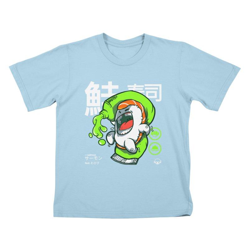 Salmon feat. Wasabi Kids T-Shirt by mankeeboi's Artist Shop