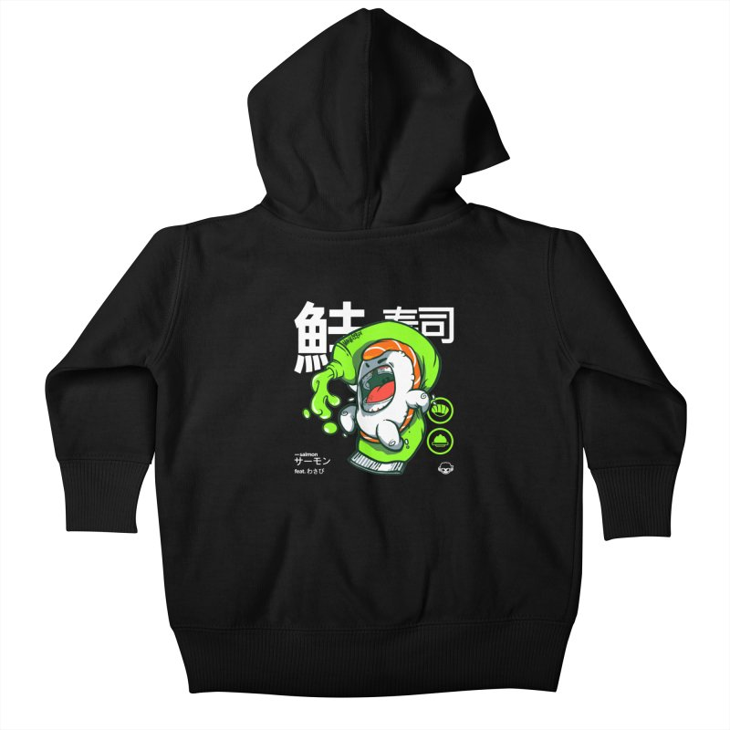 Salmon feat. Wasabi Kids Baby Zip-Up Hoody by mankeeboi's Artist Shop