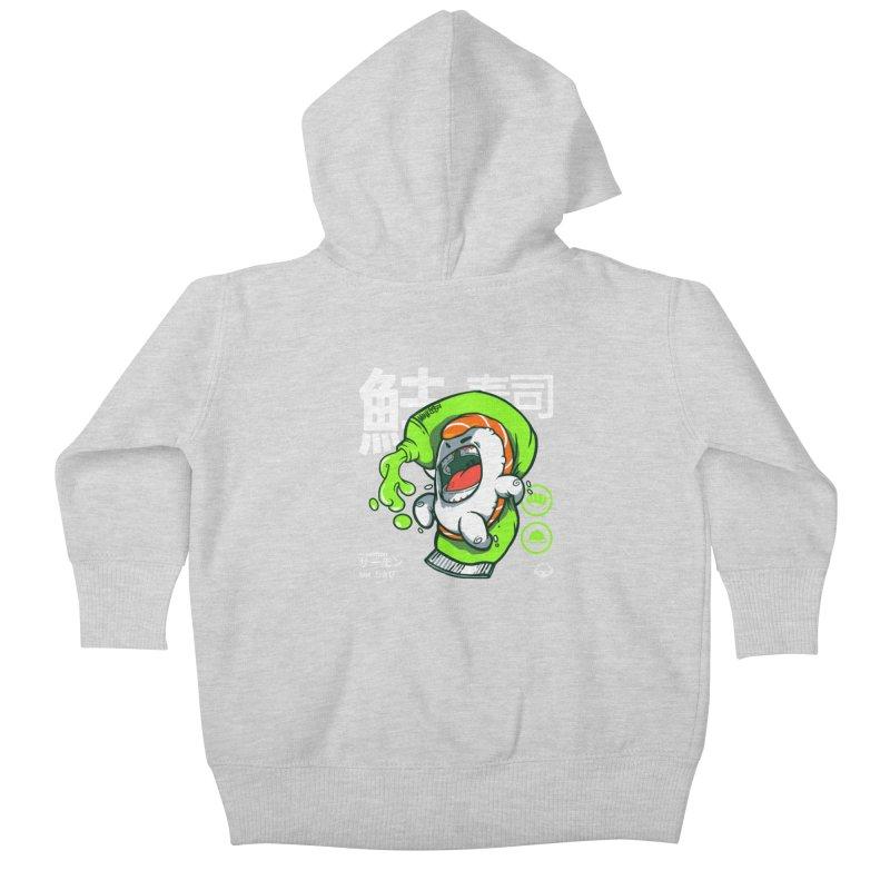 Salmon feat. Wasabi Kids Baby Zip-Up Hoody by mankeeboi's Artist Shop