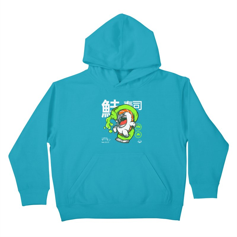 Salmon feat. Wasabi Kids Pullover Hoody by mankeeboi's Artist Shop