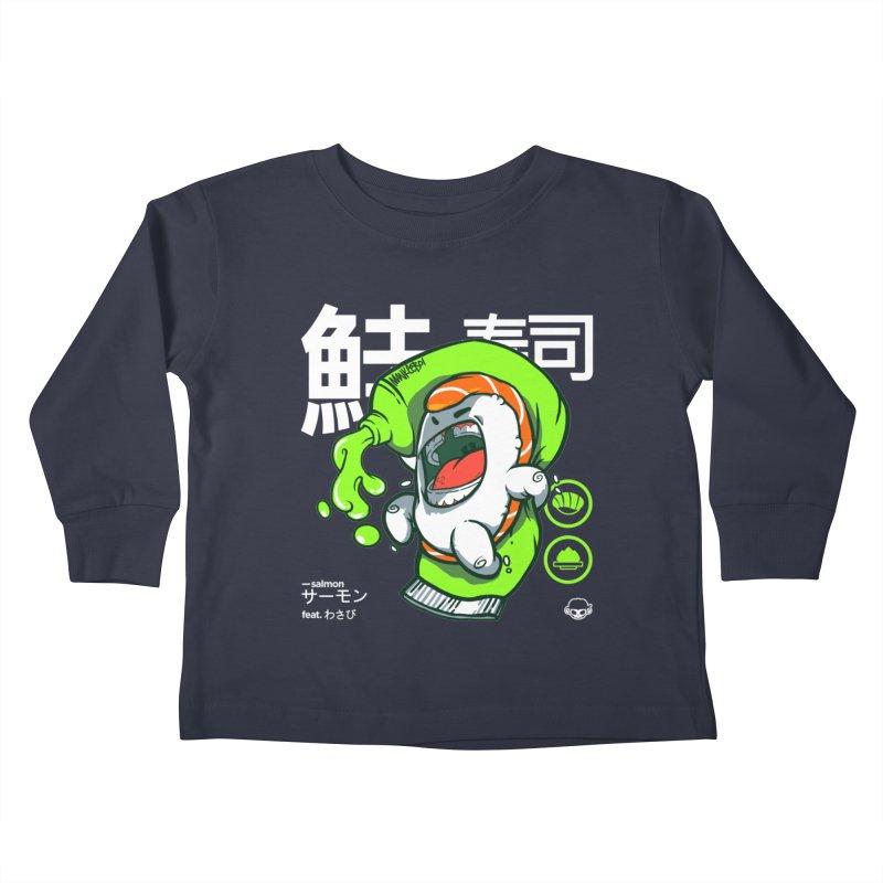 Salmon feat. Wasabi Kids Toddler Longsleeve T-Shirt by mankeeboi's Artist Shop
