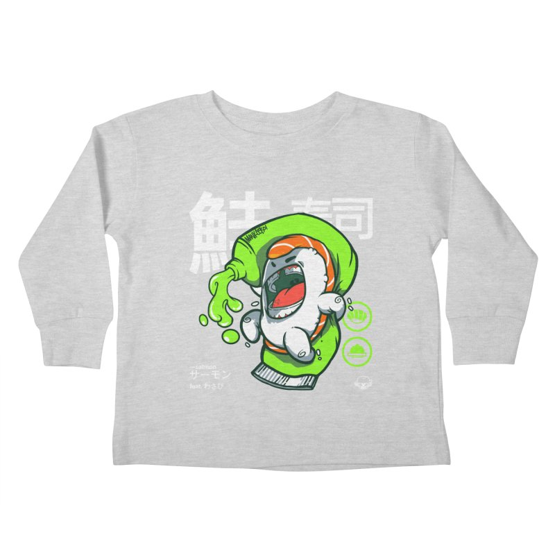 Salmon feat. Wasabi Kids Toddler Longsleeve T-Shirt by mankeeboi's Artist Shop