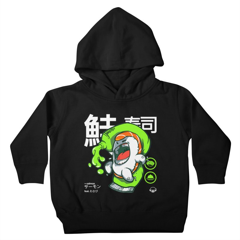 Salmon feat. Wasabi Kids Toddler Pullover Hoody by mankeeboi's Artist Shop