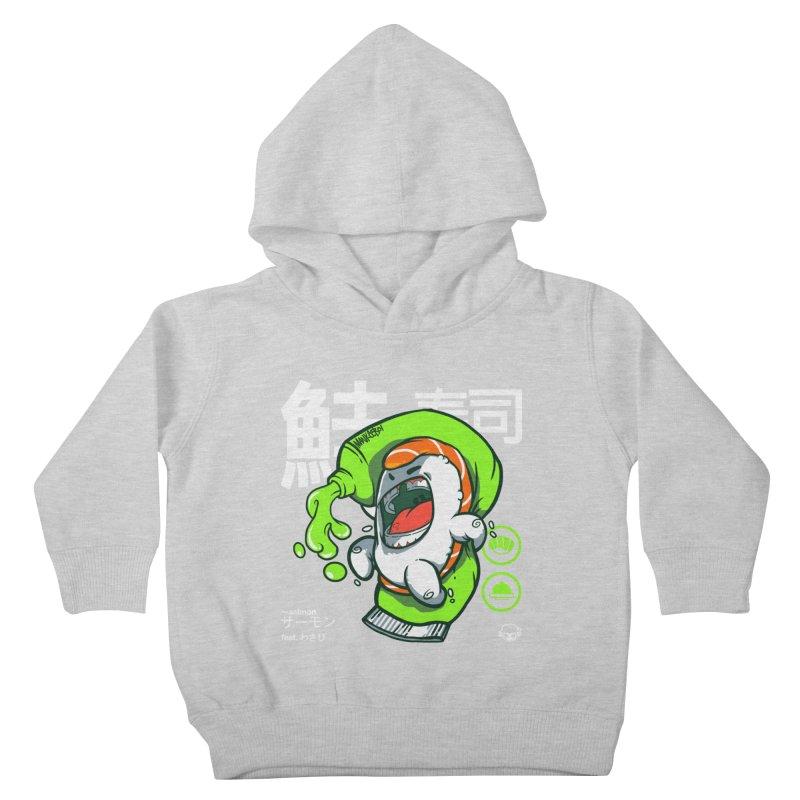 Salmon feat. Wasabi Kids Toddler Pullover Hoody by mankeeboi's Artist Shop