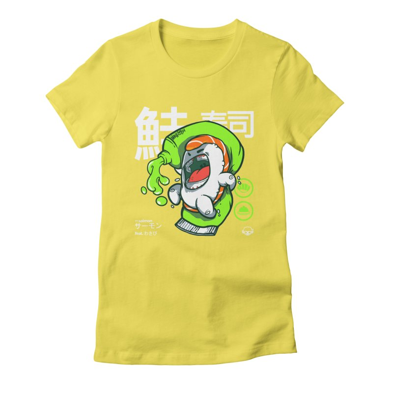 Salmon feat. Wasabi Women's Fitted T-Shirt by mankeeboi's Artist Shop