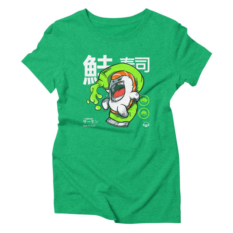 Salmon feat. Wasabi Women's Triblend T-Shirt by mankeeboi's Artist Shop