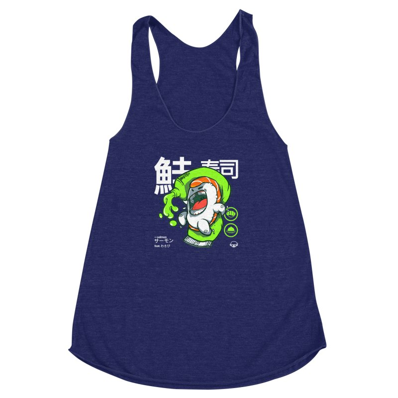 Salmon feat. Wasabi Women's Racerback Triblend Tank by mankeeboi's Artist Shop