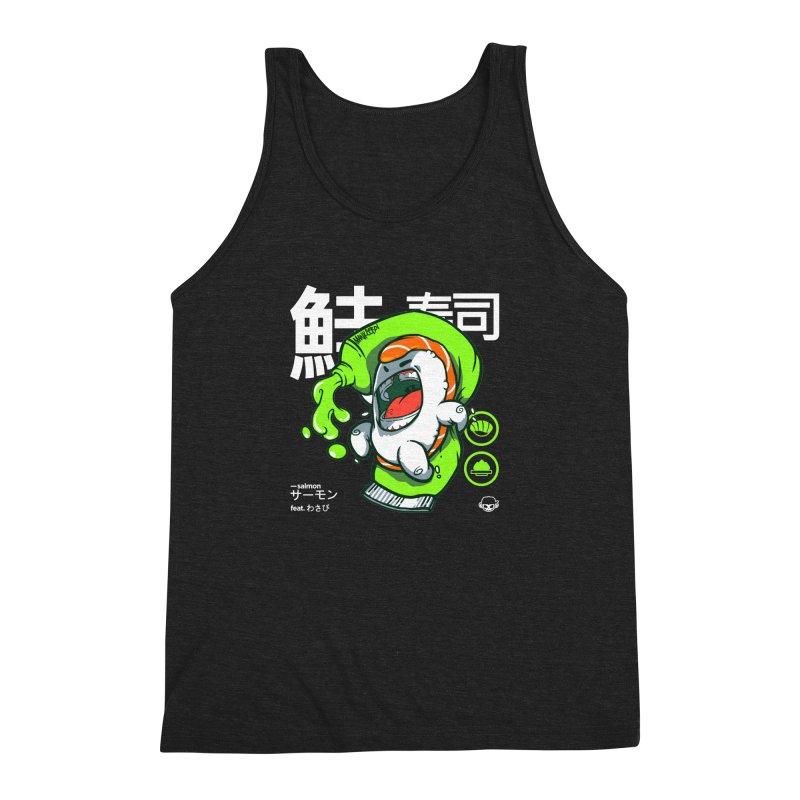 Salmon feat. Wasabi Men's Triblend Tank by mankeeboi's Artist Shop