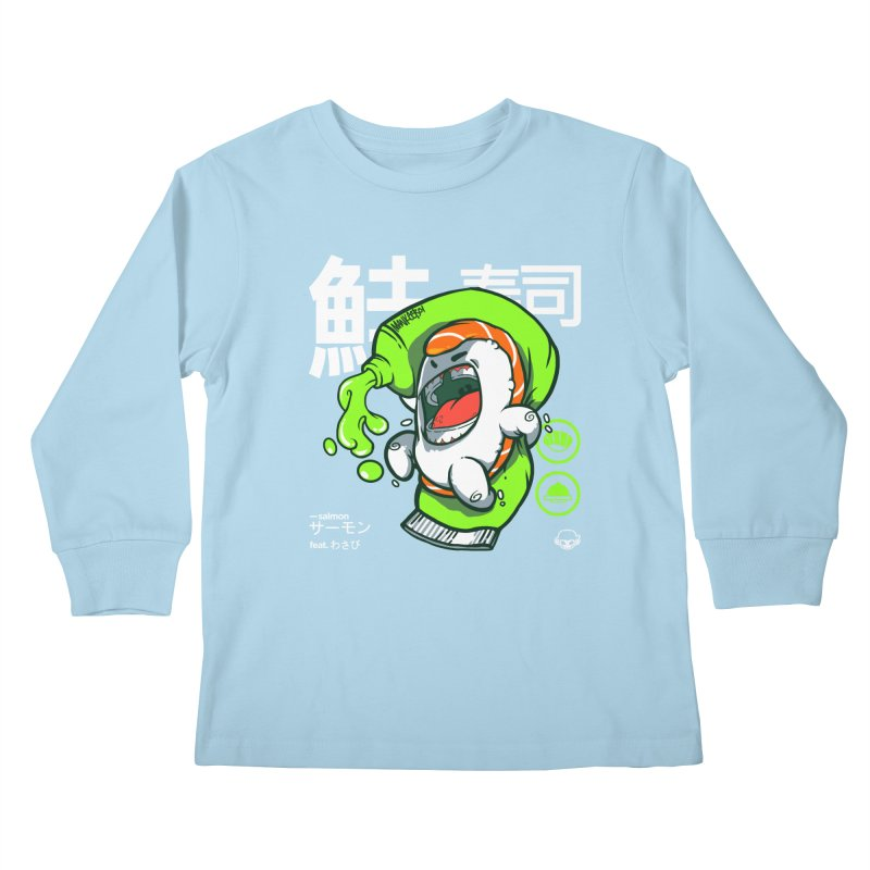 Salmon feat. Wasabi Kids Longsleeve T-Shirt by mankeeboi's Artist Shop