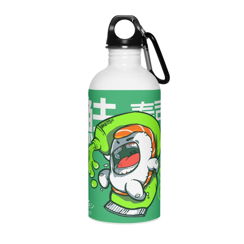 Salmon feat. Wasabi Accessories Water Bottle by mankeeboi's Artist Shop
