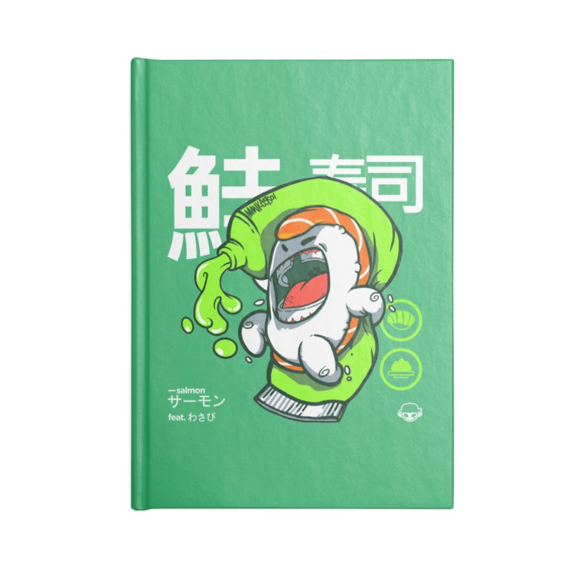 Salmon feat. Wasabi Accessories Notebook by mankeeboi's Artist Shop