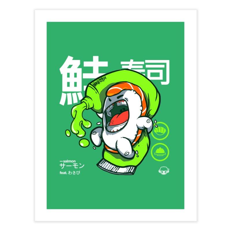Salmon feat. Wasabi Home Fine Art Print by mankeeboi's Artist Shop