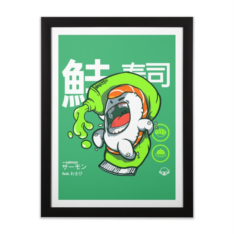 Salmon feat. Wasabi Home Framed Fine Art Print by mankeeboi's Artist Shop