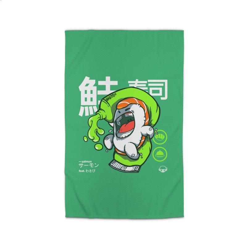 Salmon feat. Wasabi Home Rug by mankeeboi's Artist Shop
