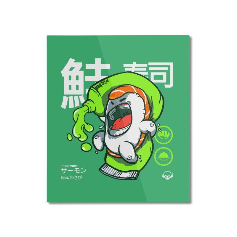 Salmon feat. Wasabi Home Mounted Aluminum Print by mankeeboi's Artist Shop