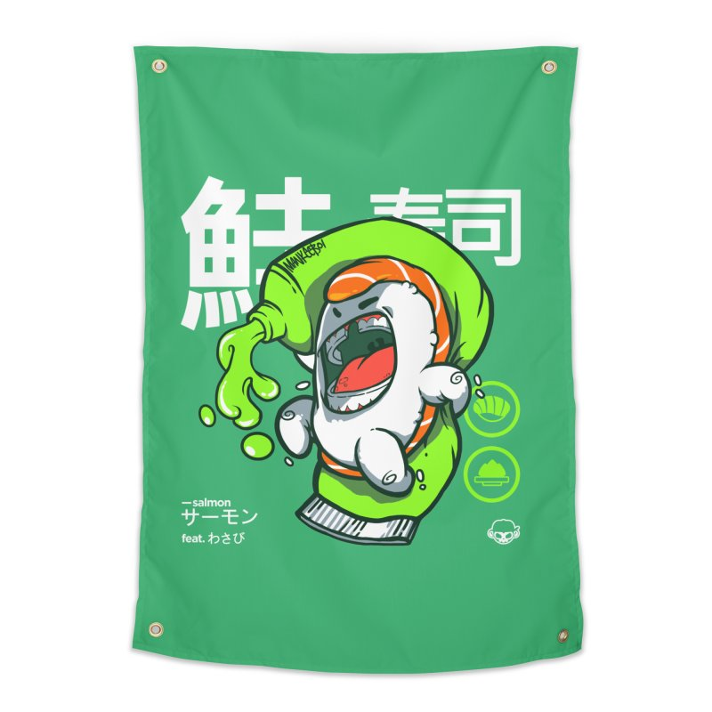 Salmon feat. Wasabi Home Tapestry by mankeeboi's Artist Shop