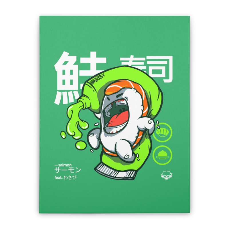 Salmon feat. Wasabi Home Stretched Canvas by mankeeboi's Artist Shop