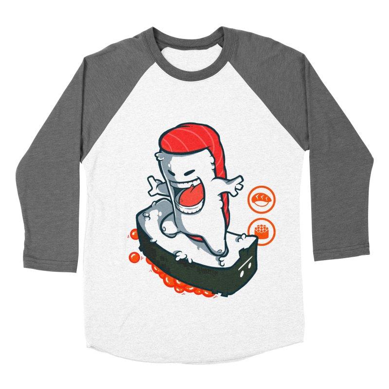 Tuna feat. Ikura Men's Baseball Triblend Longsleeve T-Shirt by mankeeboi's Artist Shop