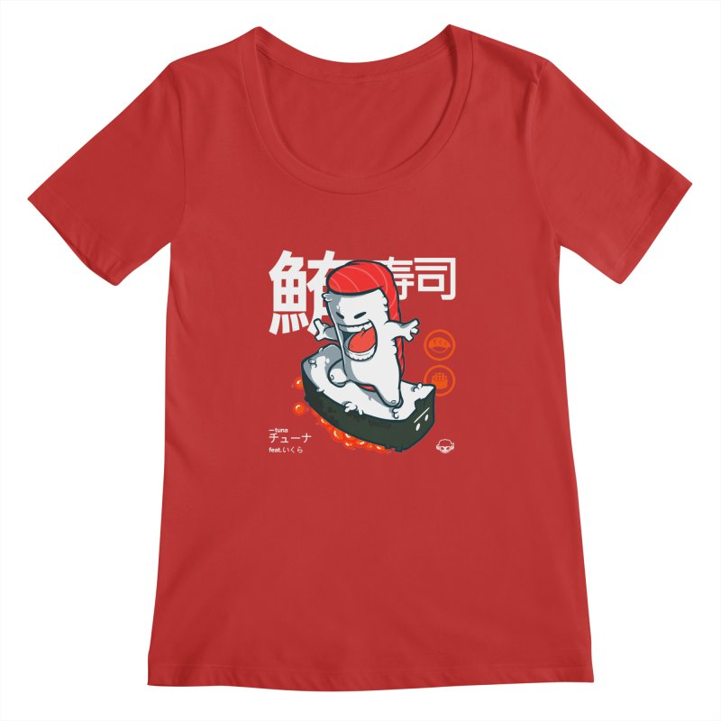 Tuna feat. Ikura Women's Scoopneck by mankeeboi's Artist Shop