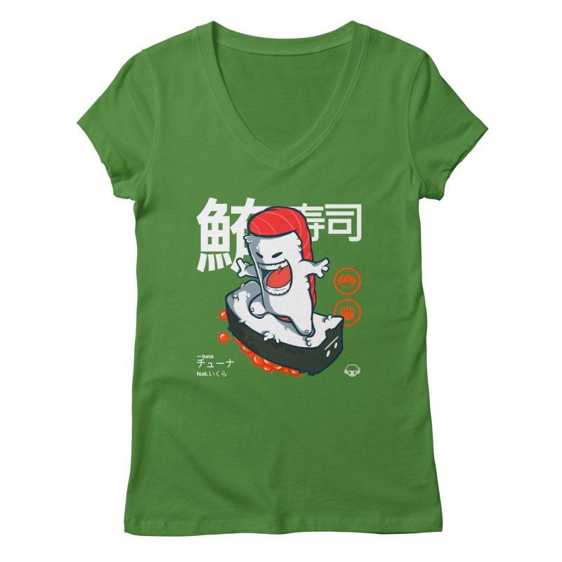 Tuna feat. Ikura Women's Regular V-Neck by mankeeboi's Artist Shop