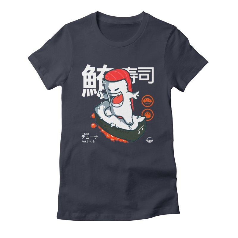 Tuna feat. Ikura Women's Fitted T-Shirt by mankeeboi's Artist Shop