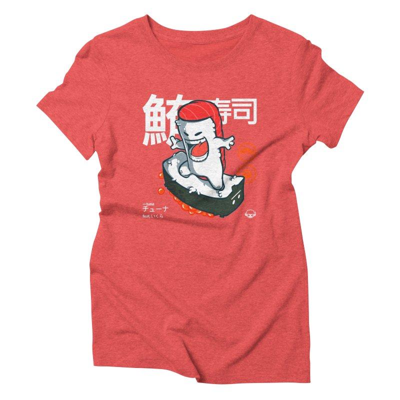 Tuna feat. Ikura Women's Triblend T-Shirt by mankeeboi's Artist Shop