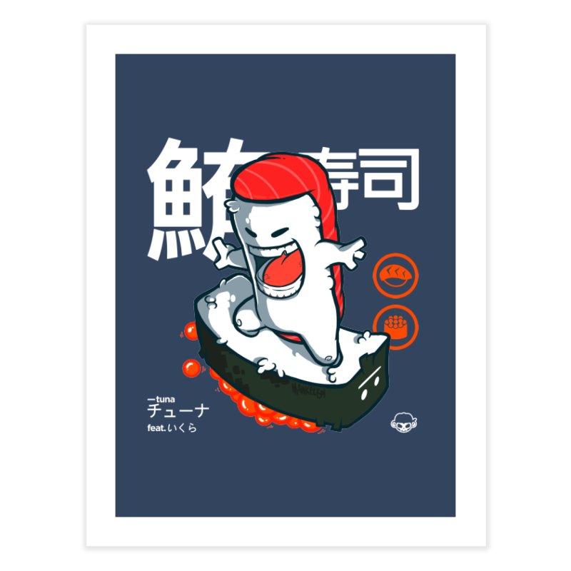 Tuna feat. Ikura Home Fine Art Print by mankeeboi's Artist Shop