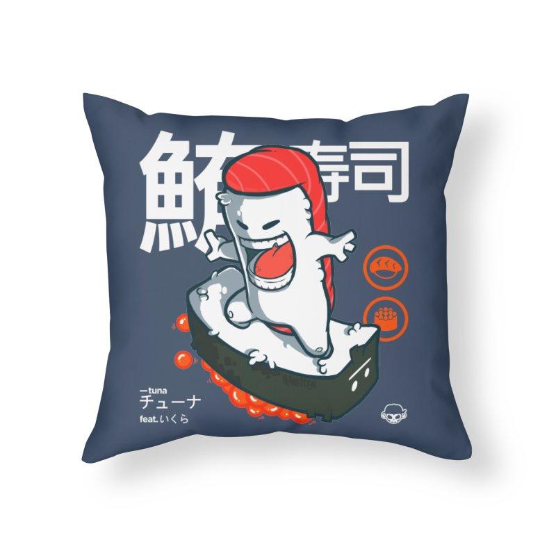 Tuna feat. Ikura Home Throw Pillow by mankeeboi's Artist Shop