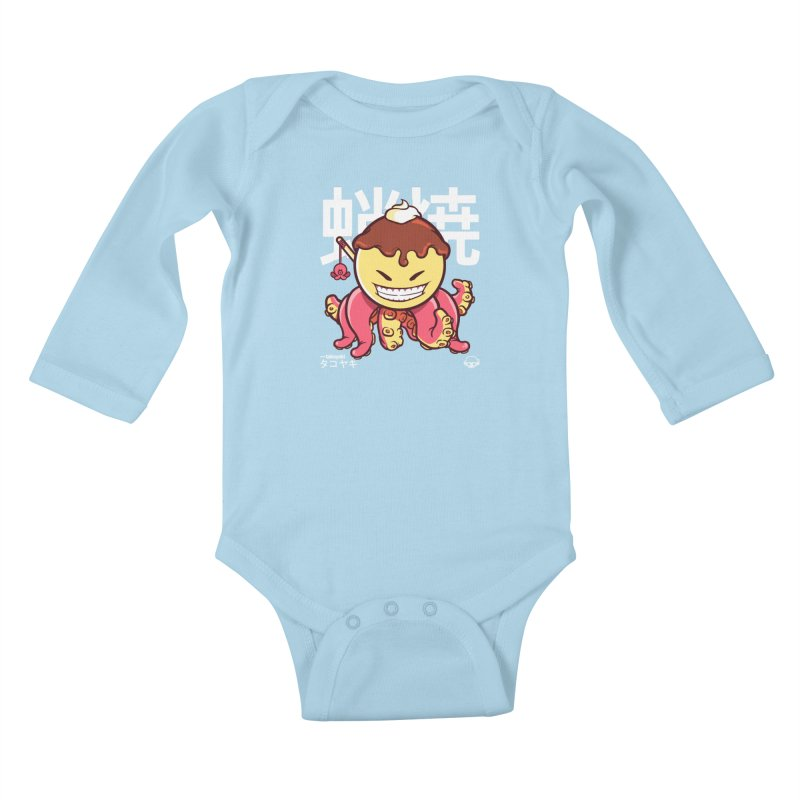 Takoyaki Kids Baby Longsleeve Bodysuit by mankeeboi's Artist Shop