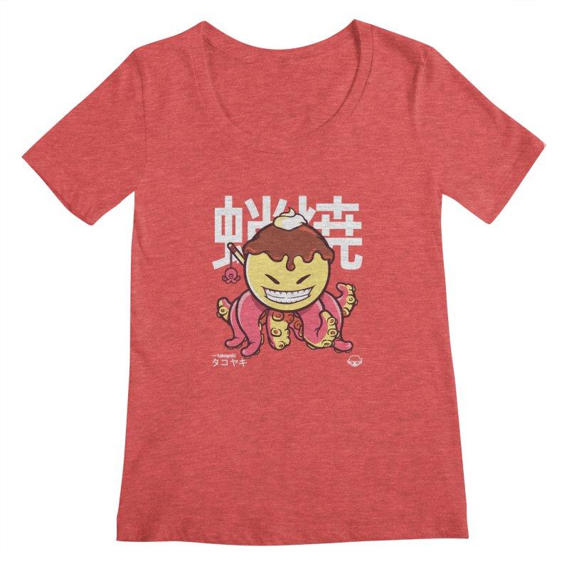 Takoyaki Women's Scoopneck by mankeeboi's Artist Shop