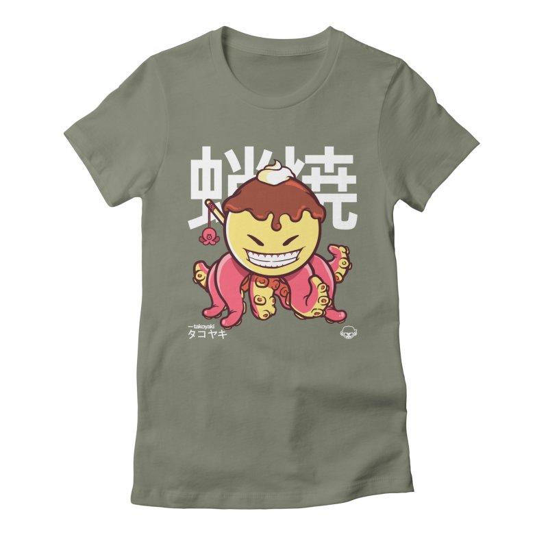 Takoyaki Women's Fitted T-Shirt by mankeeboi's Artist Shop
