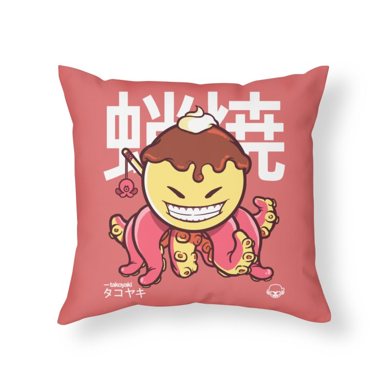 Takoyaki Home Throw Pillow by mankeeboi's Artist Shop