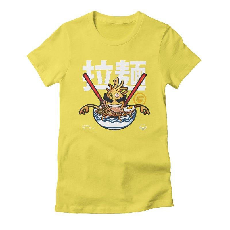 Ramen Women's Fitted T-Shirt by mankeeboi's Artist Shop