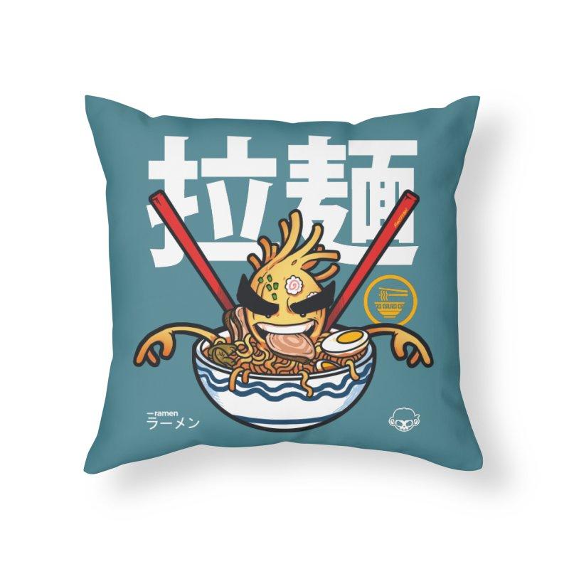 Ramen Home Throw Pillow by mankeeboi's Artist Shop