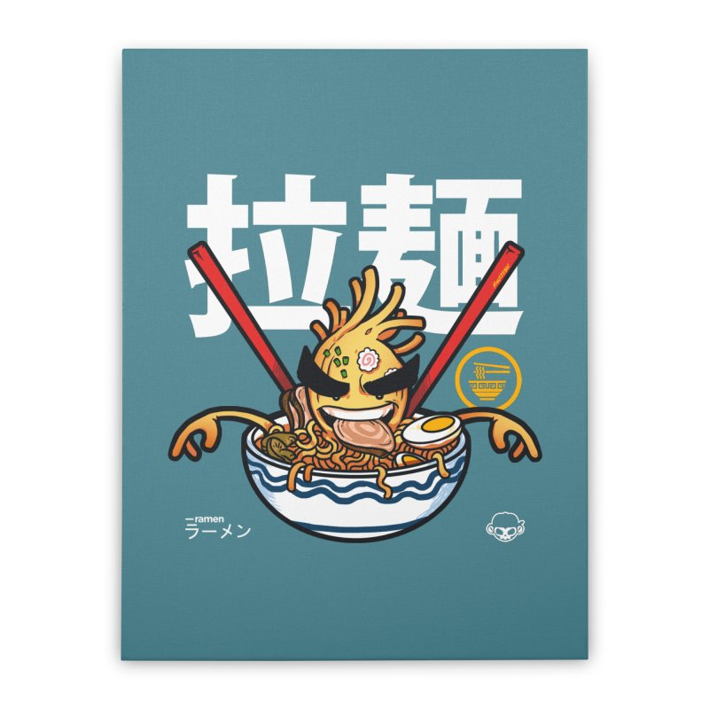 Ramen Home Stretched Canvas by mankeeboi's Artist Shop