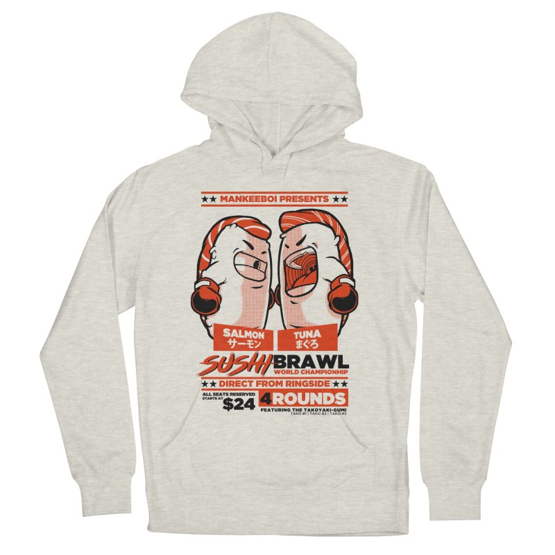 Sushi Brawl Men's Pullover Hoody by mankeeboi's Artist Shop
