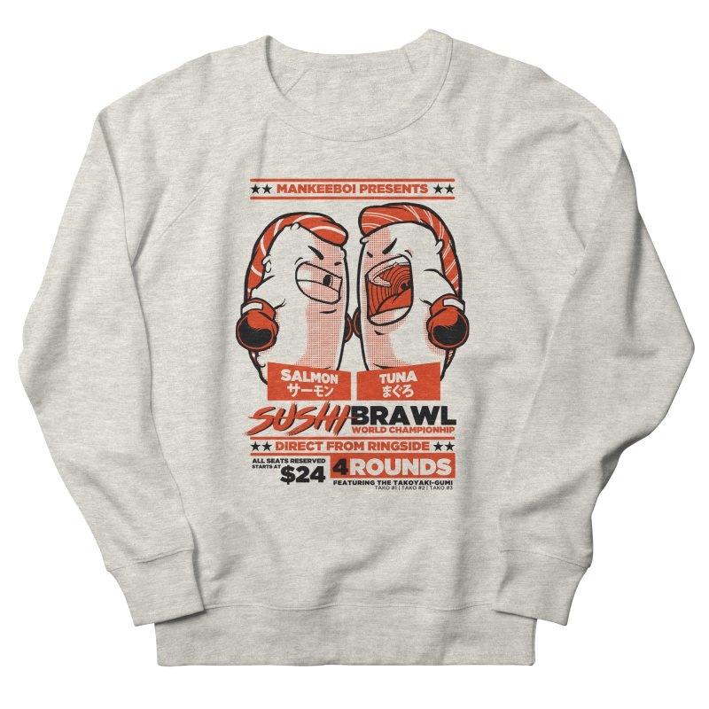 Sushi Brawl Men's French Terry Sweatshirt by mankeeboi's Artist Shop