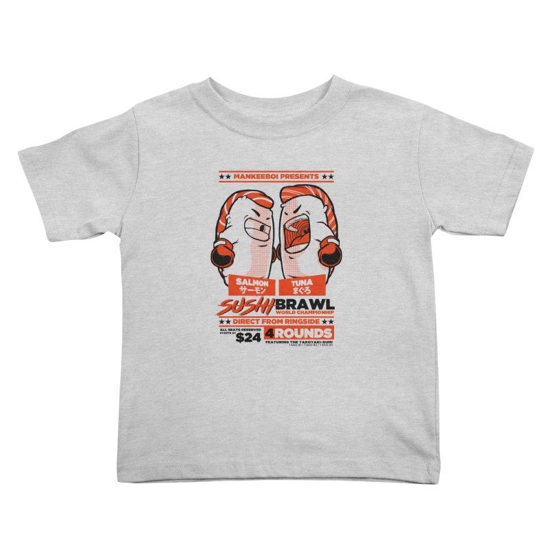 Sushi Brawl Kids Toddler T-Shirt by mankeeboi's Artist Shop