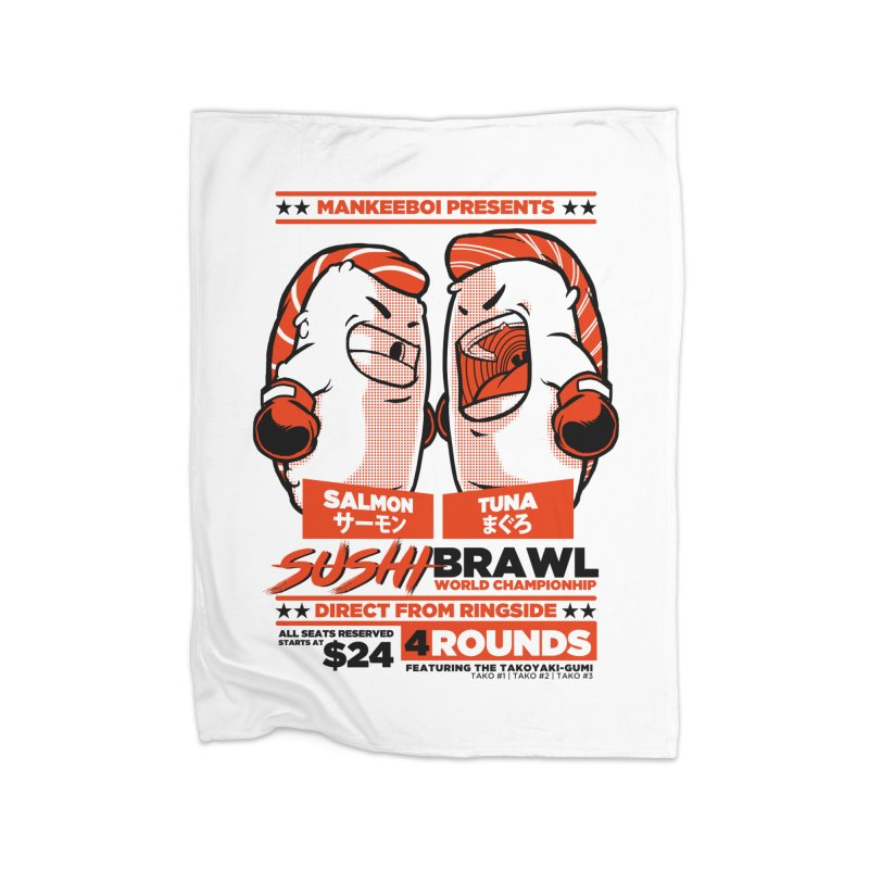 Sushi Brawl Home Blanket by mankeeboi's Artist Shop