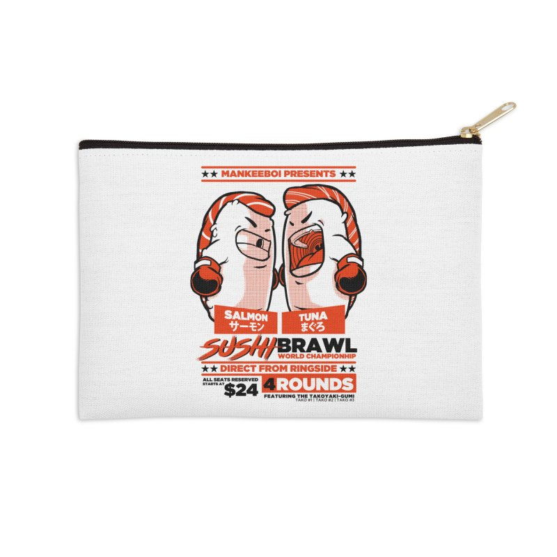 Sushi Brawl Accessories Zip Pouch by mankeeboi's Artist Shop