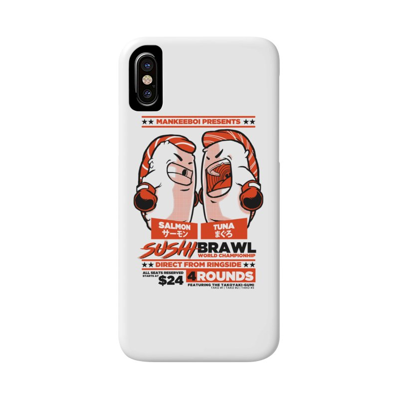 Sushi Brawl Accessories Phone Case by mankeeboi's Artist Shop