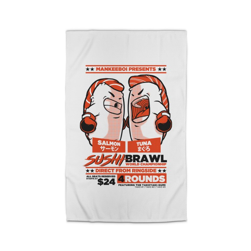 Sushi Brawl Home Rug by mankeeboi's Artist Shop