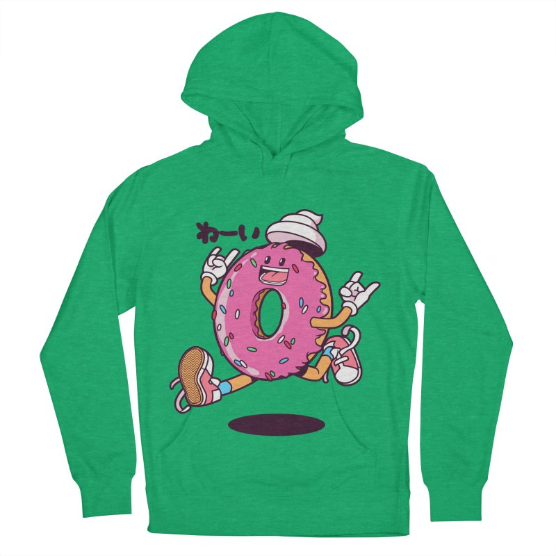 Jumping Donut Men's Pullover Hoody by mankeeboi's Artist Shop