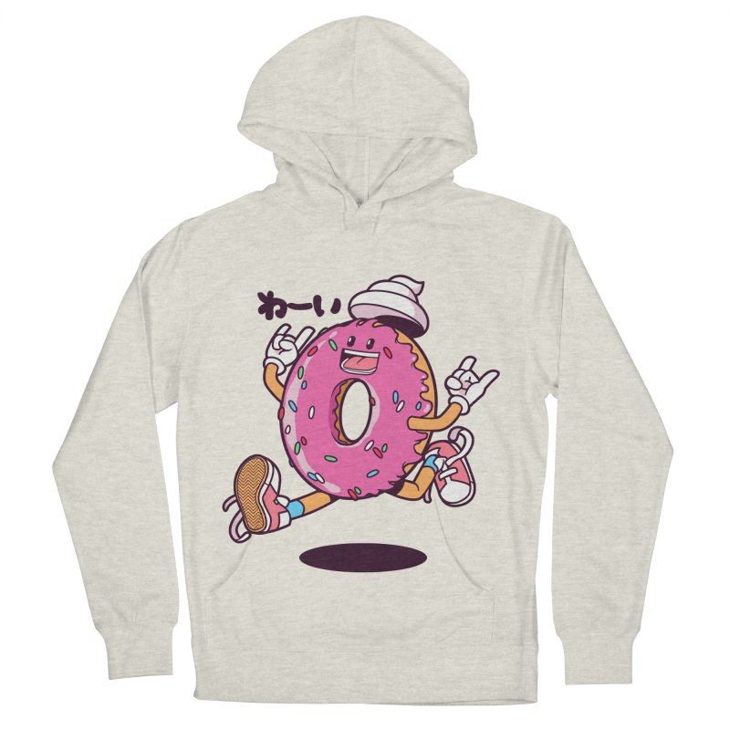 Jumping Donut Men's French Terry Pullover Hoody by mankeeboi's Artist Shop