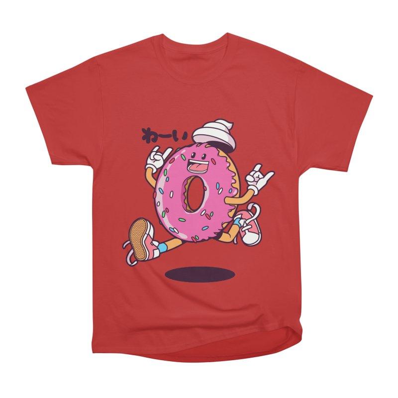 Jumping Donut Women's Classic Unisex T-Shirt by mankeeboi's Artist Shop