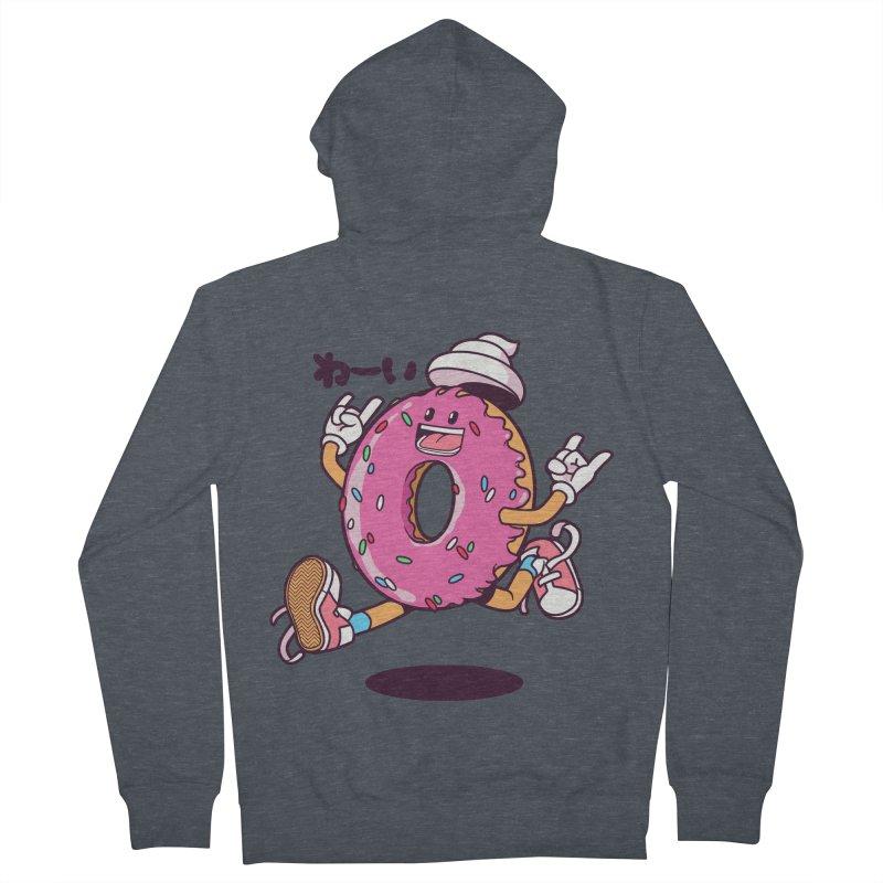 Jumping Donut Women's Zip-Up Hoody by mankeeboi's Artist Shop
