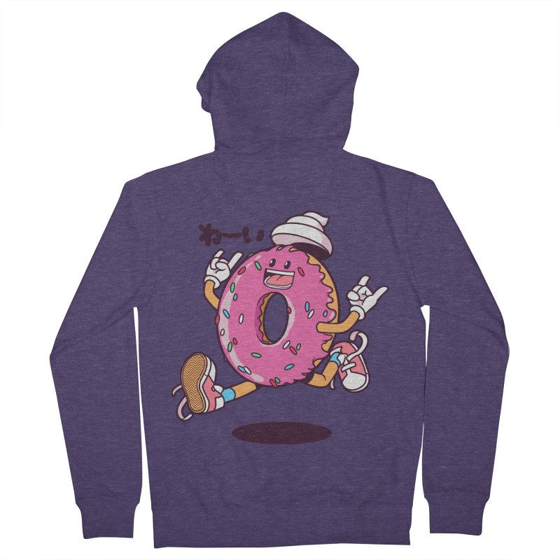 Jumping Donut Men's Zip-Up Hoody by mankeeboi's Artist Shop
