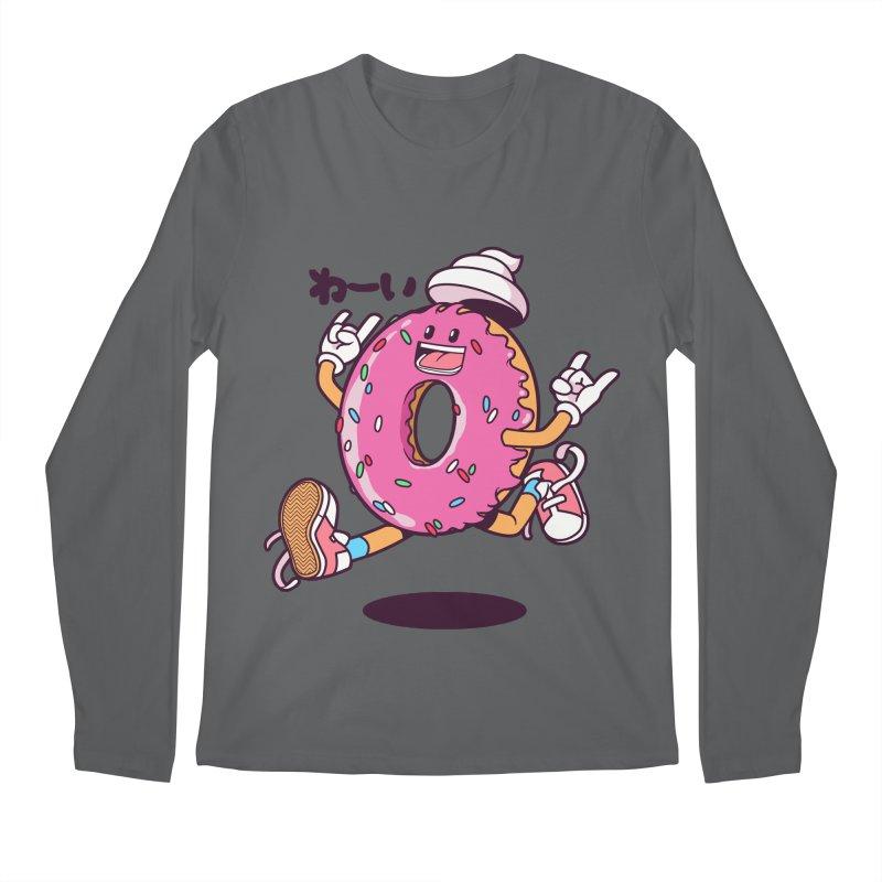 Jumping Donut Men's Longsleeve T-Shirt by mankeeboi's Artist Shop